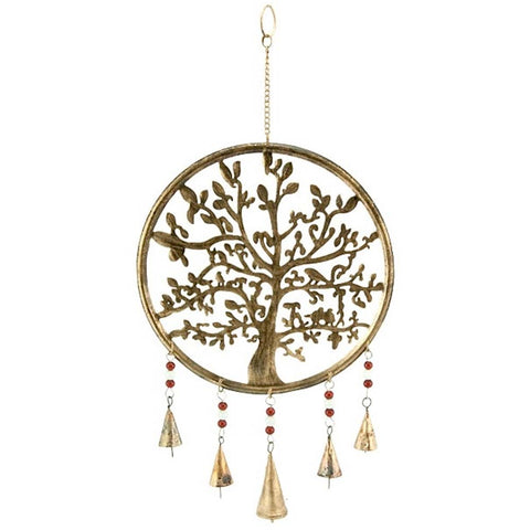 Tree of Life Wind Chime w/ Bells & Beads 120