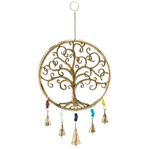 Tree of Life Wind Chime w/ Bells & Beads 121
