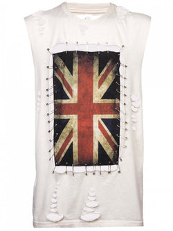 Any Old Iron Union Jack Pin T-Shirt , Mens Tops - ANY OLD IRON,  - 1