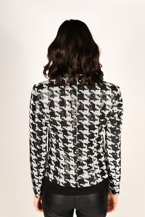 Any Old Iron Houndstooth Sequin Tux
