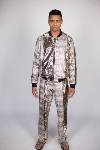 Any Old Iron Snake Print Track Suit