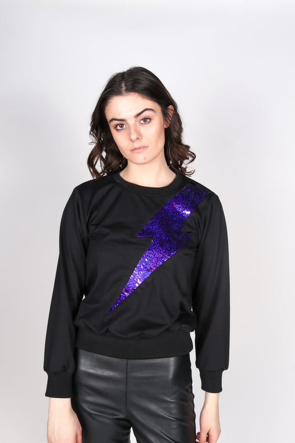 Any Old Iron Purple Lightening Sweatshirt
