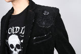 Any Old Iron Velvet Sequin Jacket