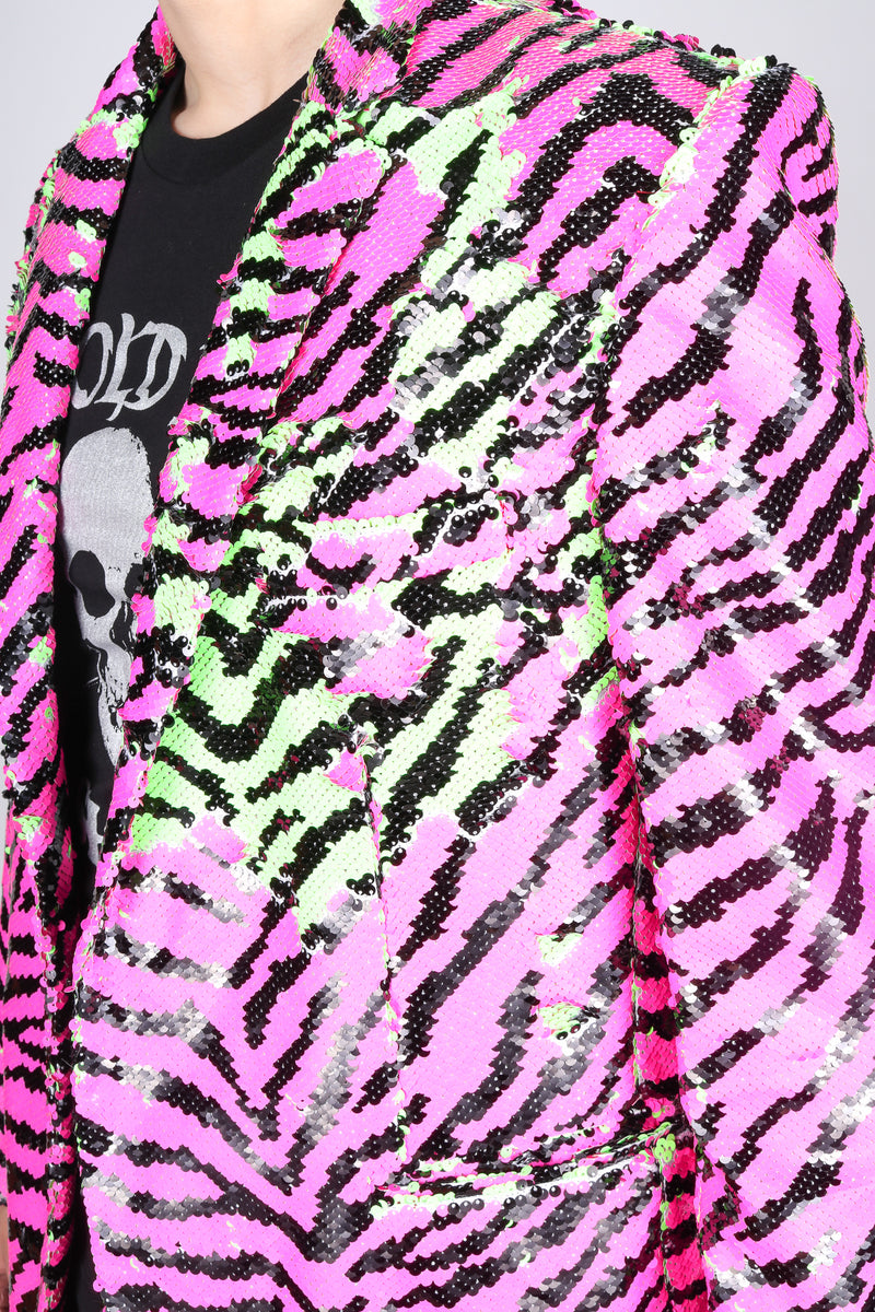 Any Old Iron Neon Zebra Jacket
