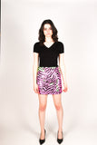 Any Old Iron Neon Zebra Skirt