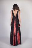 Any Old Iron Black and Red Paneled Dress