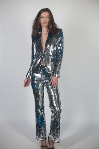 Any Old Iron Silver/Green Suit