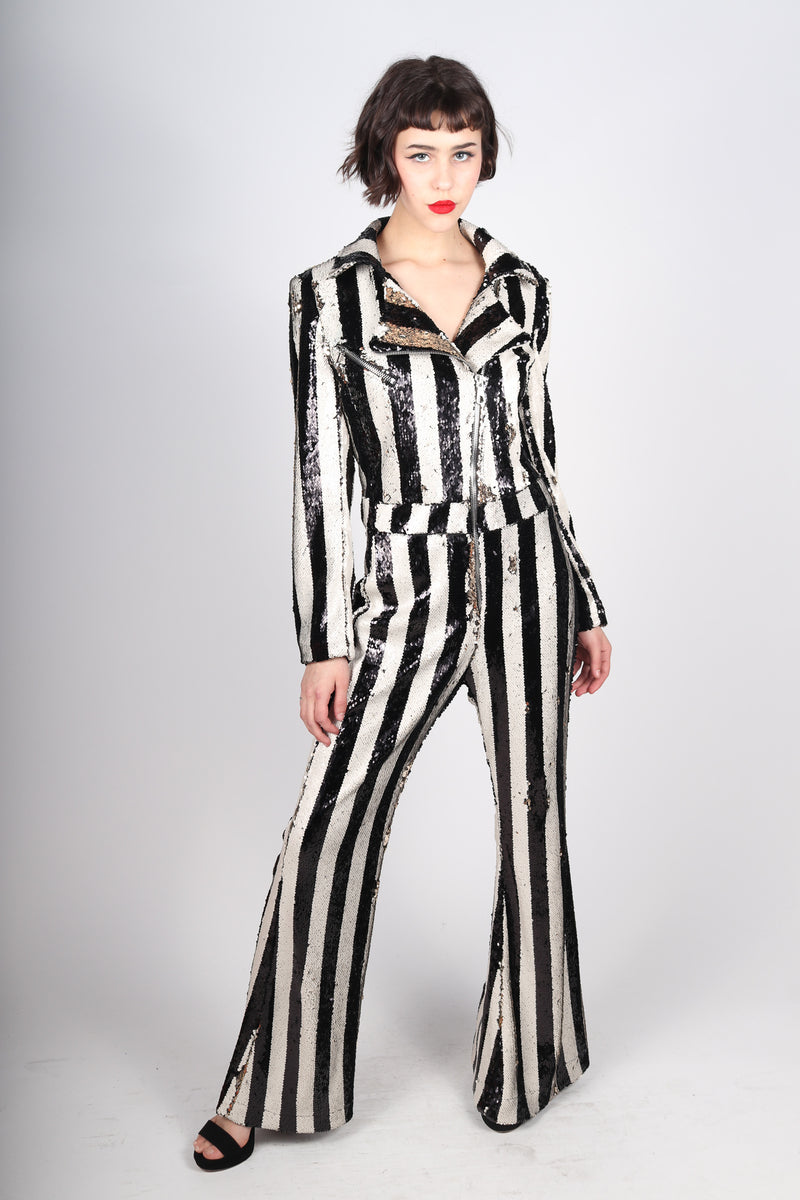Any Old Iron Stripped Jumpsuit