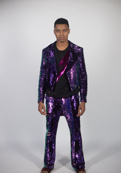 Any Old Iron Purple Iridescent Pants
