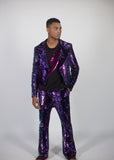 Any Old Iron Purple Iridescent Tails Jacket
