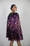 Any Old Iron Sequin Fringe Cape