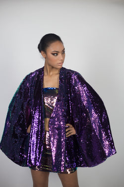 Any Old Iron Purple Iridescent Cape