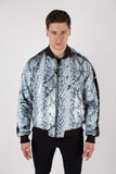Any Old Iron Whitesnake Sequin Bomber Jacket