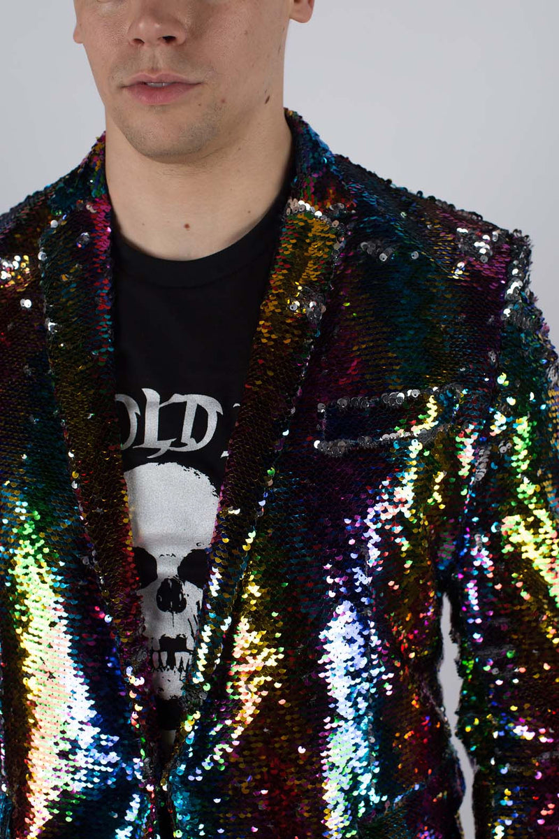Any Old Iron Rainbow Sequin Jacket