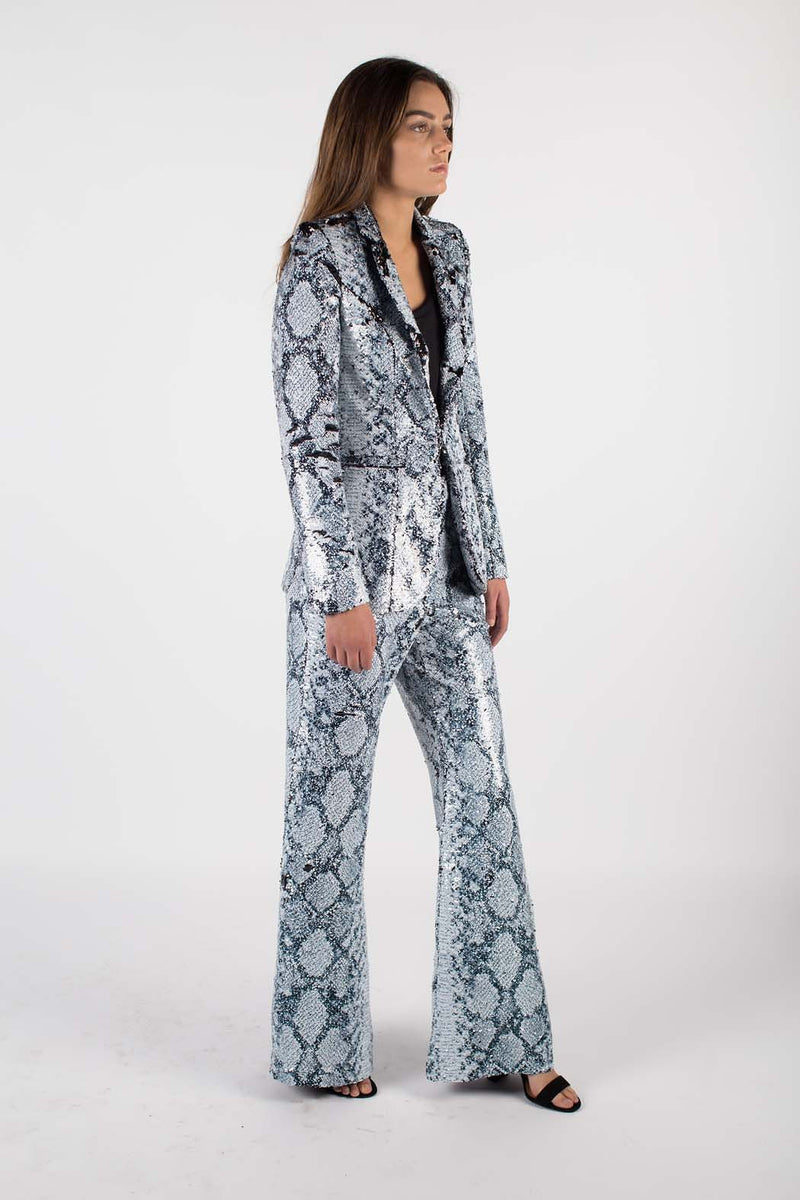 Any Old Iron Sequin Whitesnake Suit