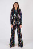 Any Old Iron Rainbow Sequin Suit