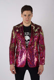 Any Old Iron Pink Hologram Mens Sequin Jacket
