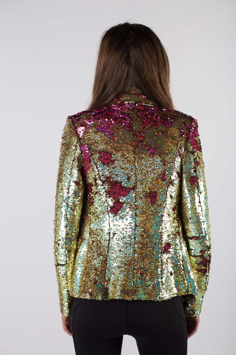 Any Old Iron Hologram Gold to Pink Jacket
