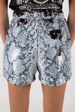 Any Old Iron Whitesnake Sequin Shorts