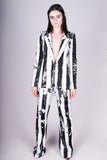Any Old Iron Zebra Crossing Suit