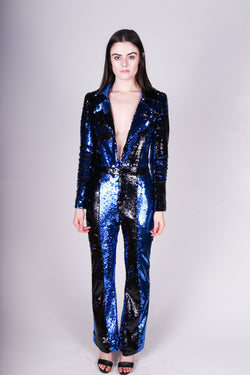 Any Old Iron Black n Blue Jumpsuit