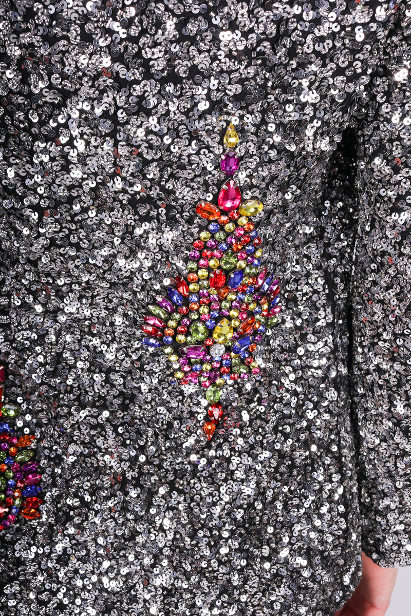 Any Old Iron Bejeweled Blazer