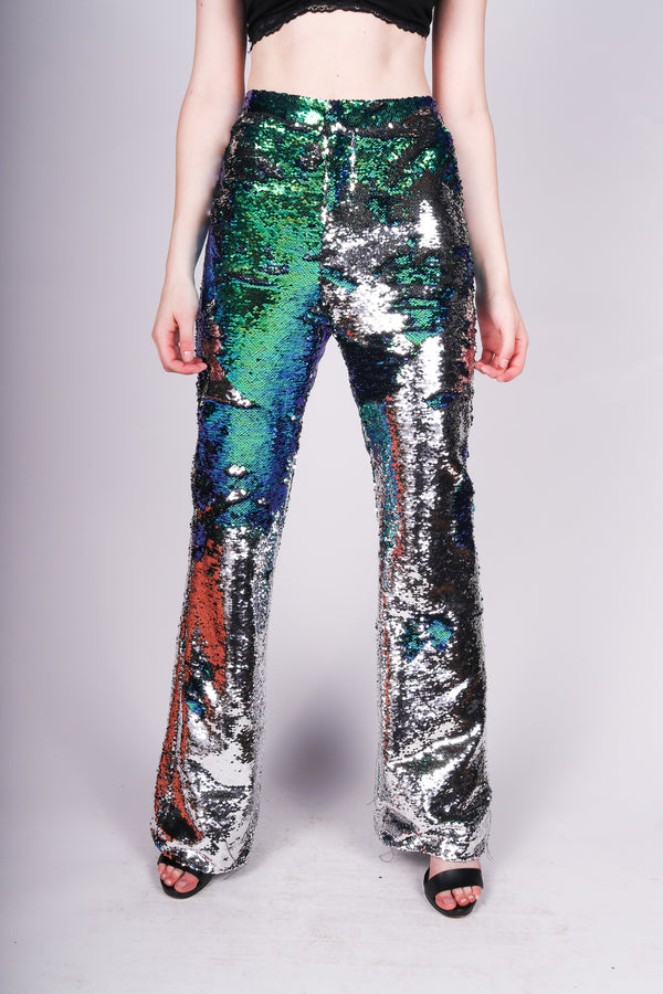 Any Old Iron Sequin Flares