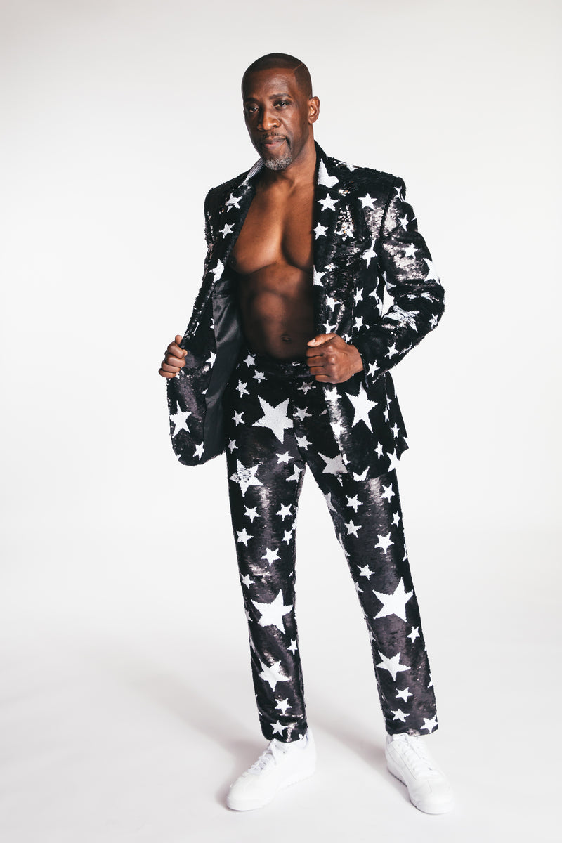 Any Old Sparkle Star Mens Suit