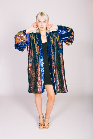 Any Old Iron Oil Slick Kimono
