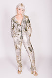 Any Old Iron Sequin Snake Moto Jumpsuit