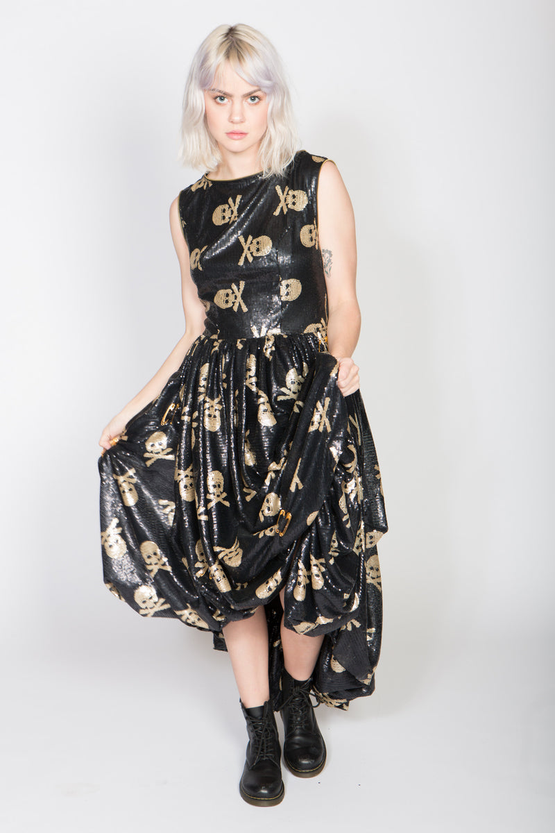 Any Old Iron Sequin Jolly Rodgered Skull Dress