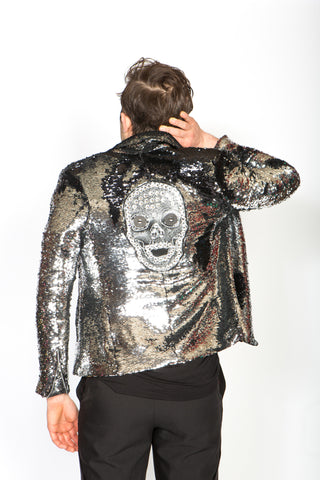Any Old Iron Skull Moto Jacket