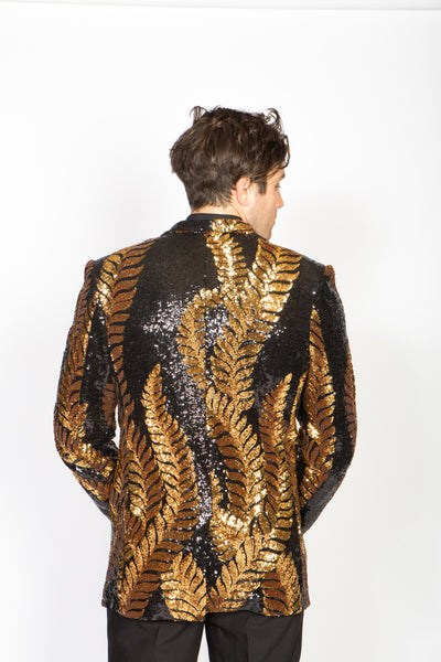 Any Old Iron Golden Laurel Sequin Jacket