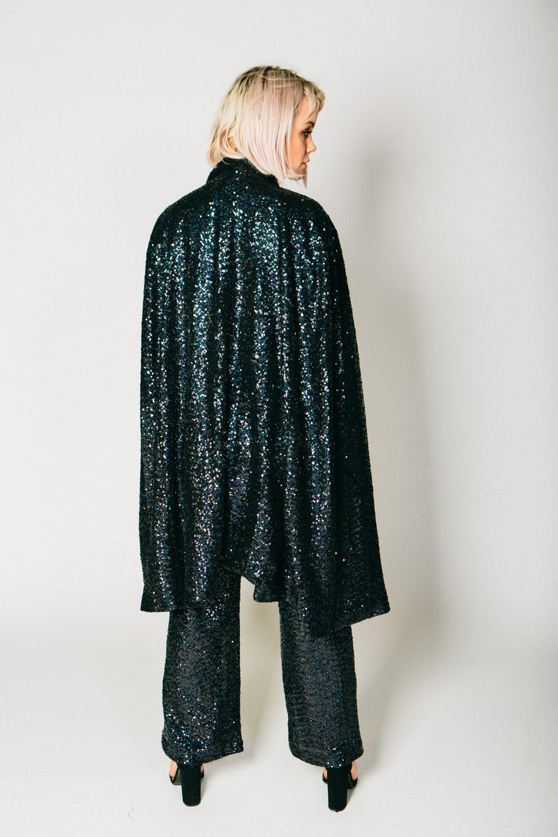 Any Old Iron Black Sequin Cape , Womans Jackets - ANY OLD IRON,  - 3