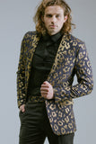 Any Old Iron Gold Leopard Suit , Mens Jackets - ANY OLD IRON,  - 1