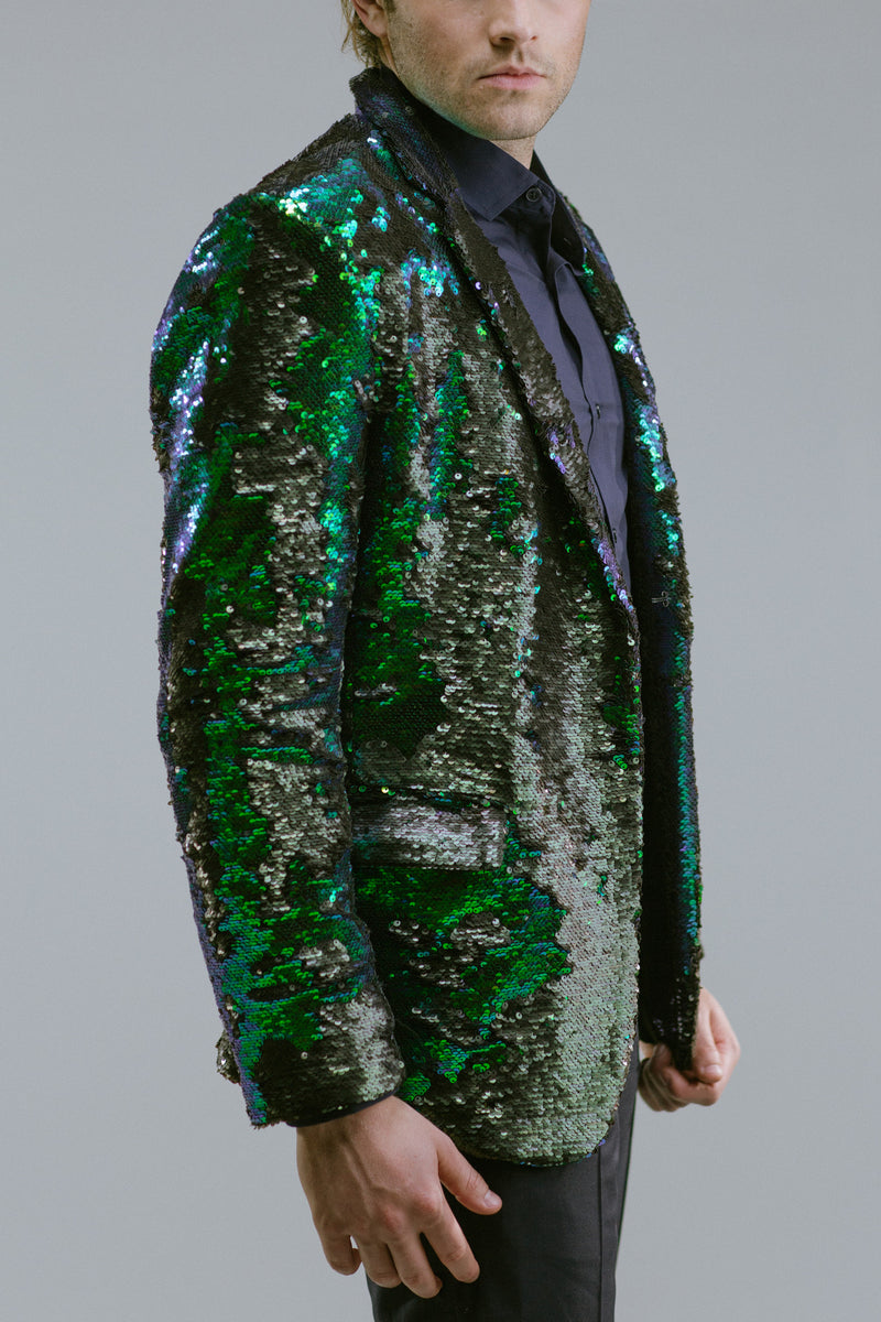 Any Old Iron Peacock Sequin Blazer , Mens Jackets - ANY OLD IRON,  - 2