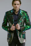 Any Old Iron Peacock Sequin Blazer , Mens Jackets - ANY OLD IRON,  - 3