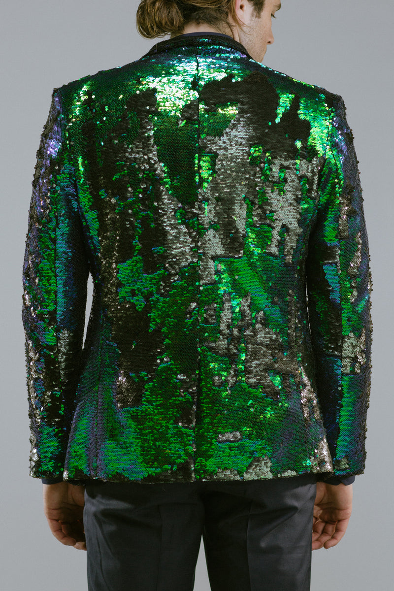 Any Old Iron Peacock Sequin Blazer , Mens Jackets - ANY OLD IRON,  - 4