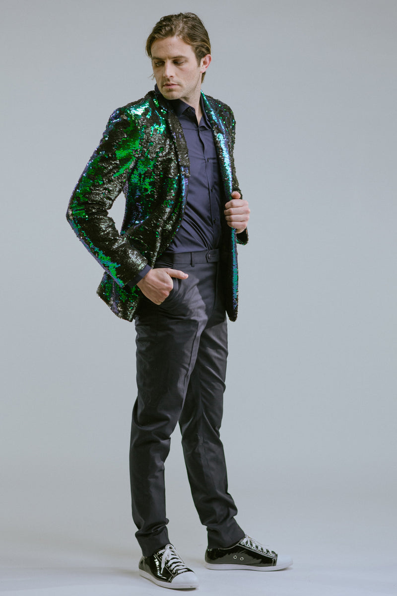 Any Old Iron Peacock Sequin Blazer , Mens Jackets - ANY OLD IRON,  - 7