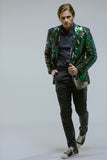 Any Old Iron Peacock Sequin Blazer , Mens Jackets - ANY OLD IRON,  - 8