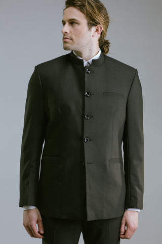 Any Old Iron Chinese Collar Suit Jacket , Mens Jackets - ANY OLD IRON,  - 1