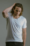 Any Old Iron Off Kilter White T-Shirt , Mens Tops - ANY OLD IRON,  - 2