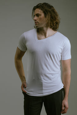 Any Old Iron Off Kilter White T-Shirt , Mens Tops - ANY OLD IRON,  - 1