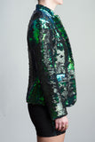 Any Old Iron Peacock Sequin Suit , Womans Jackets - ANY OLD IRON,  - 2