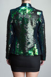 Any Old Iron Peacock Sequin Suit , Womans Jackets - ANY OLD IRON,  - 3