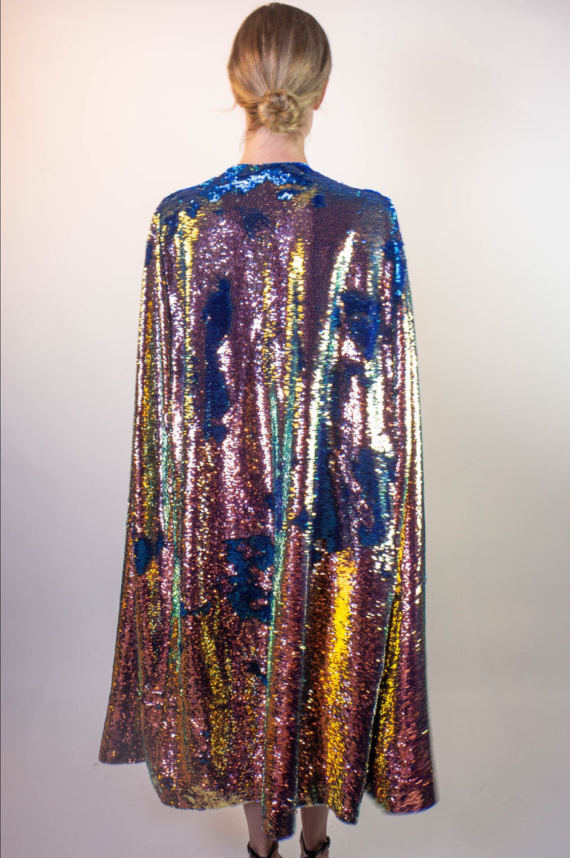 Any Old Iron Oil Slick Long Cape