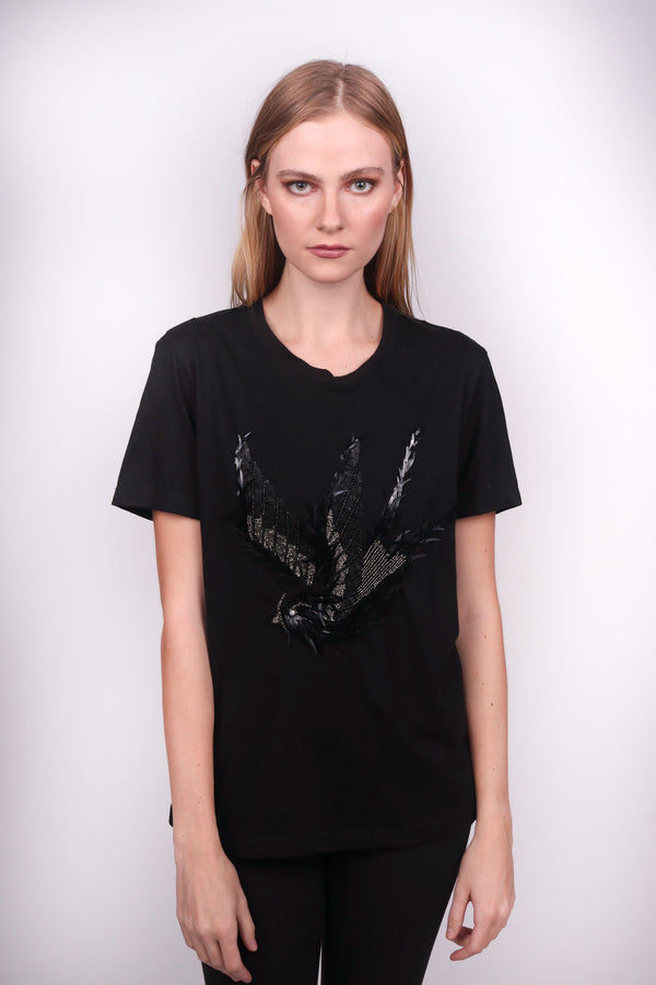 Any Old Iron Black Swallow T-Shirt