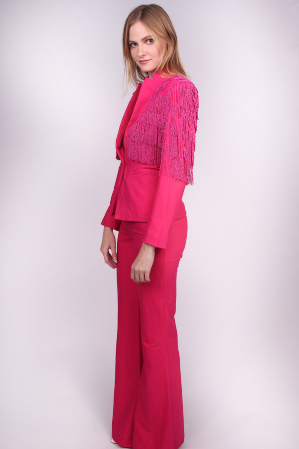 Any Old Iron Pink Fringe Suit