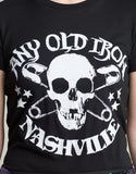 Any Old Safety Pin Skull T-Shirt , Mens Tops - ANY OLD IRON,  Nashville T-Shirt