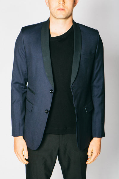 Any Old Iron Classic Cashmere Blend Blazer - Navy , Mens Jacket - ANY OLD IRON,  - 1